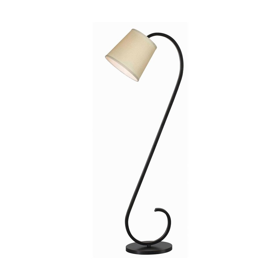 Kenroy Home Wilson 56-in Oil-Rubbed Bronze Shaded Floor Lamp with Fabric Shade
