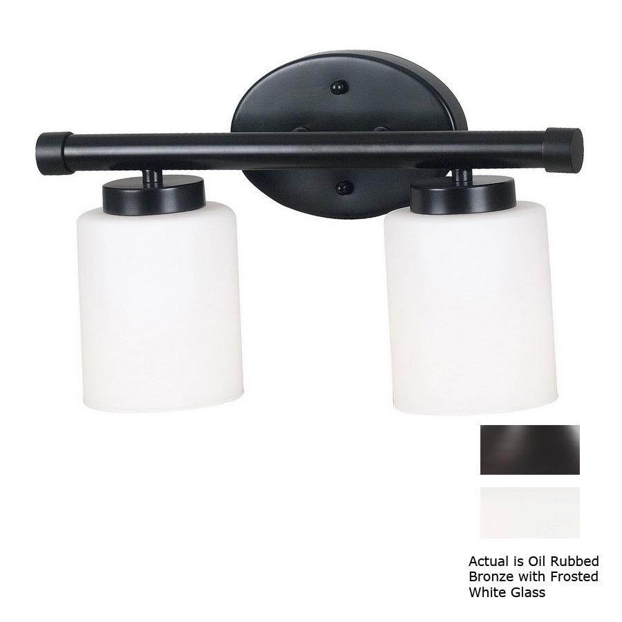 Kenroy Home 2-Light Mezzanine Oil-Rubbed Bronze Bathroom Vanity Light