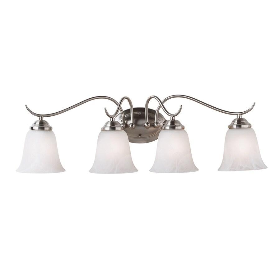 Kenroy Home 4-Light Brushed Steel Standard Bathroom Vanity Light