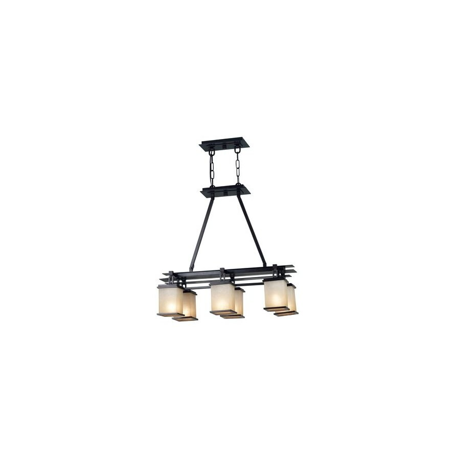 Shop Kenroy Home Plateau 14 In W 6 Light Oil Rubbed Bronze Kitchen Island Light With Shade At