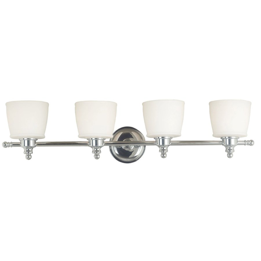 Shop Kenroy Home 4 Light Riley Chrome Standard Bathroom Vanity Light At