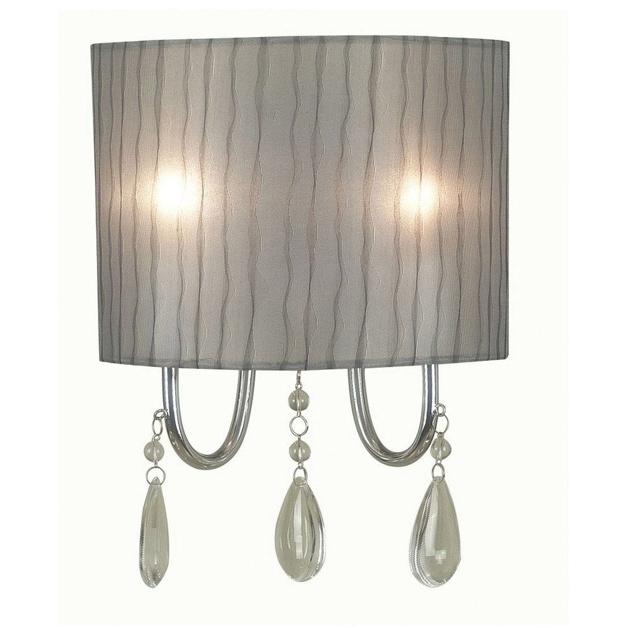 Kenroy Home Arpeggio 9-in W 2-Light Chrome Arm Hardwired Wall Sconce