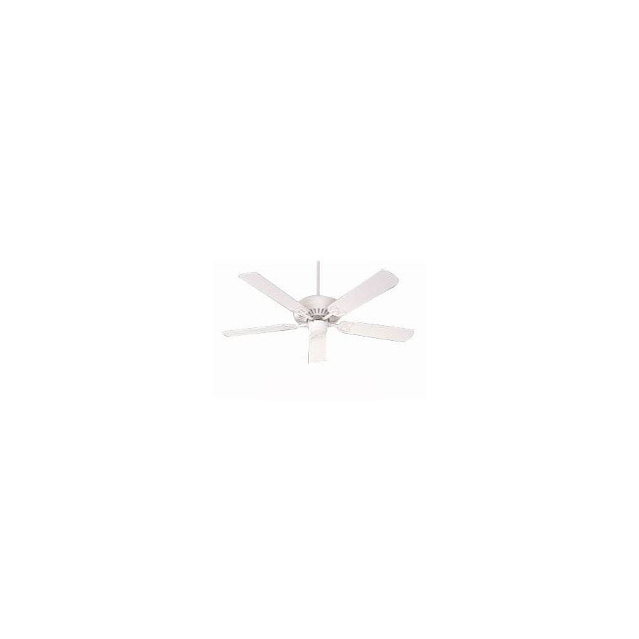 Nicor Lighting 52-in Chateau Textured White Ceiling Fan