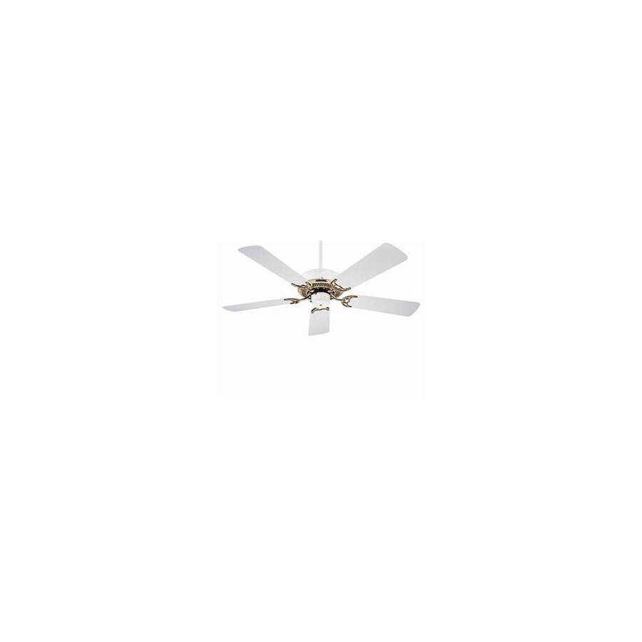 Nicor Lighting 52-in Masterbuilder White Ceiling Fan ENERGY STAR