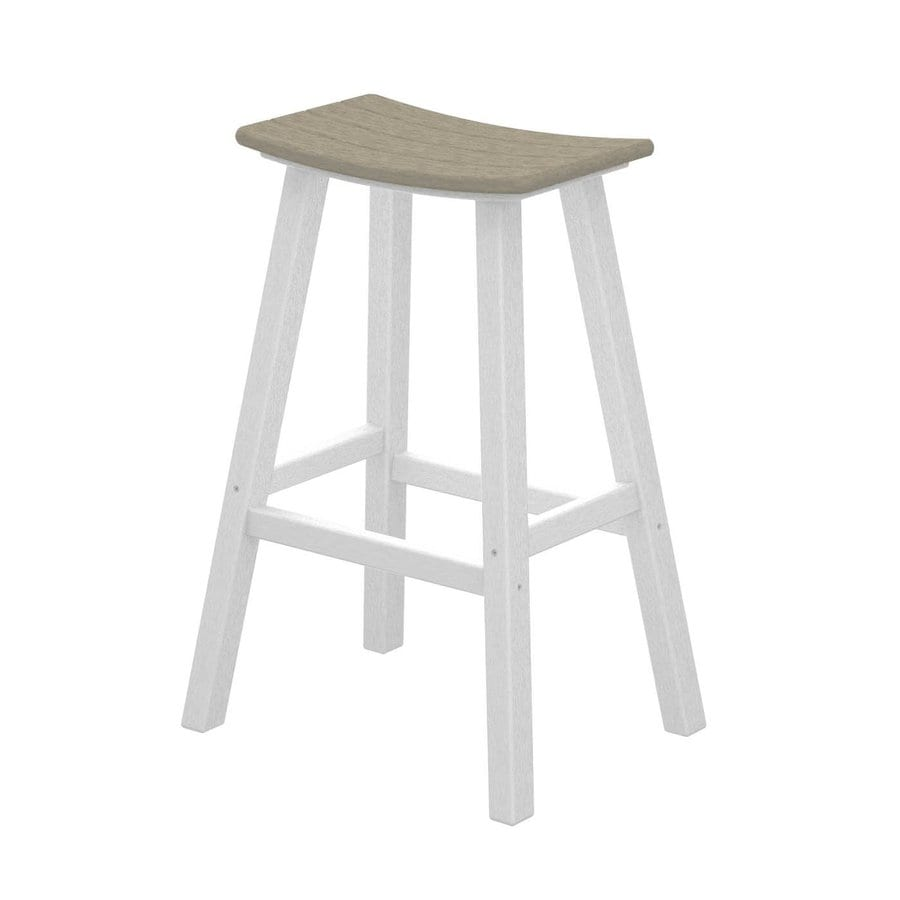 POLYWOOD Contempo Sand Plastic Patio Barstool Chair