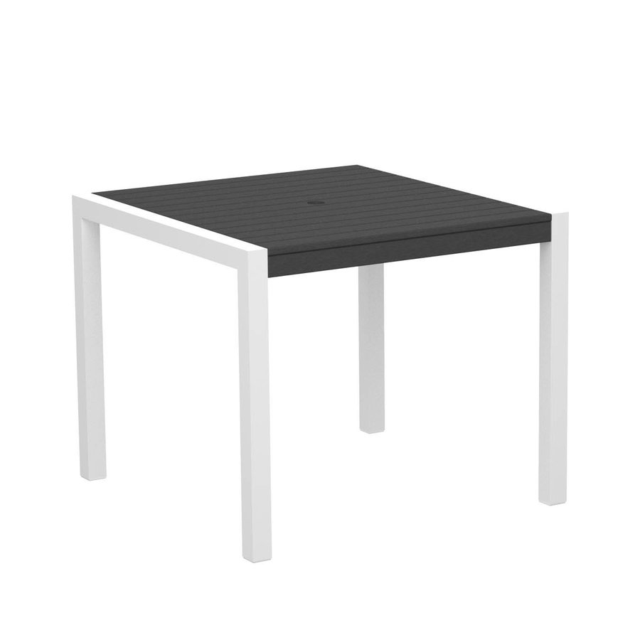 Shop POLYWOOD Recycled Plastic Top Gloss WhiteSlate Grey  : 3789943 from www.lowes.com size 900 x 900 jpeg 19kB