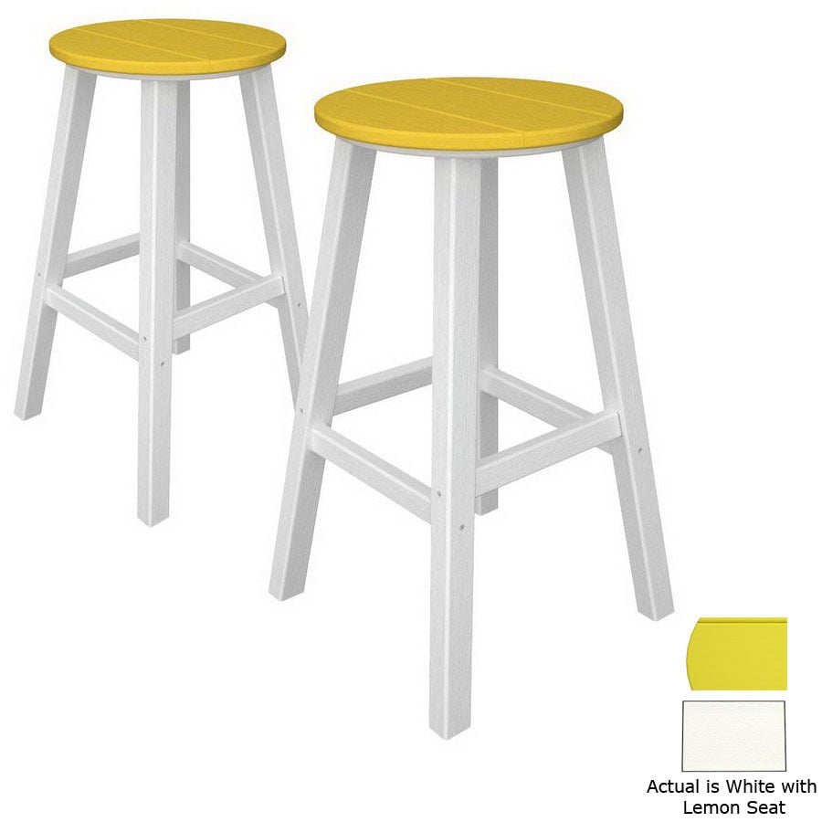 POLYWOOD Set Of 2 Contempo Patio Bar-Height Chairs