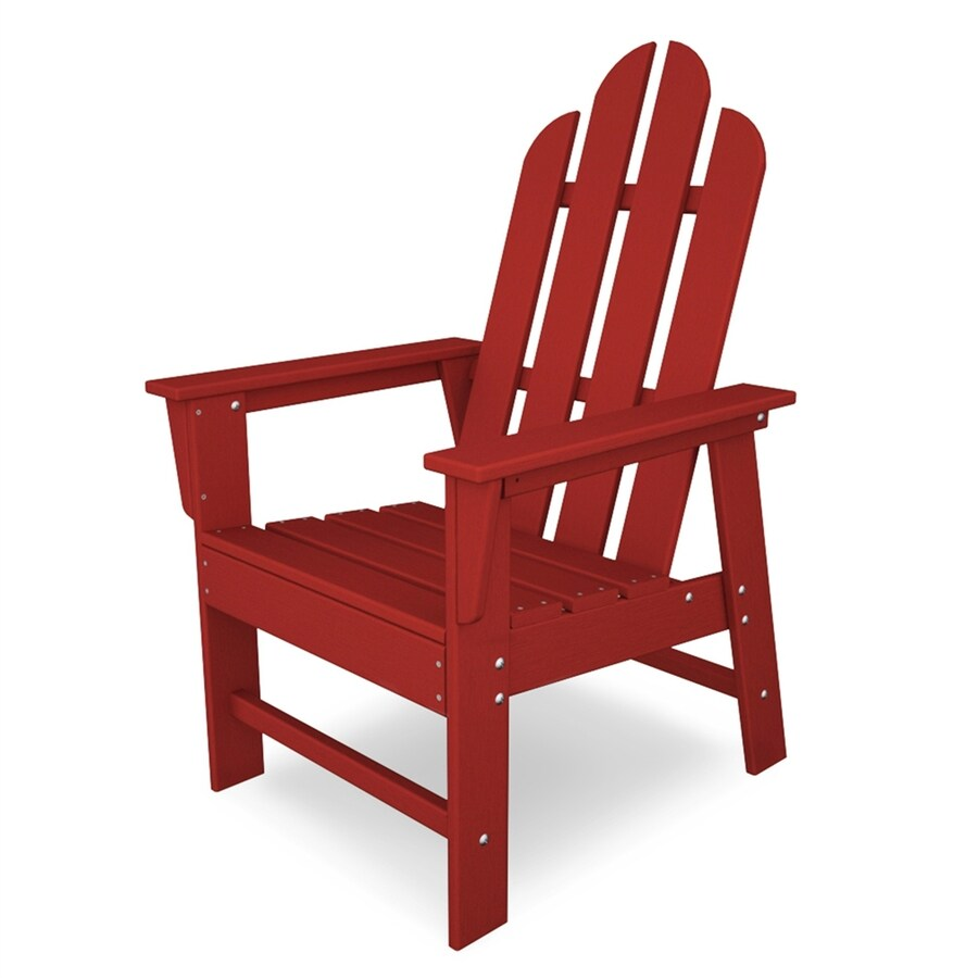 POLYWOOD Long Island Sunset Red Plastic Dining Chair