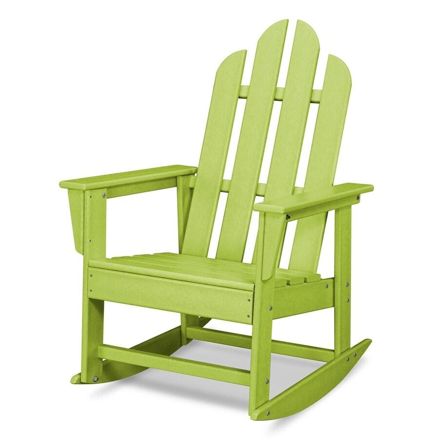 POLYWOOD Long Island Lime Plastic Rocking Chair