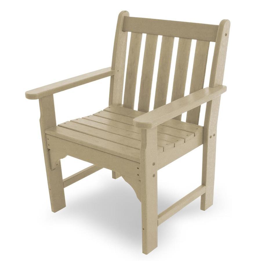 POLYWOOD Vineyard Sand Plastic Patio Conversation Chair