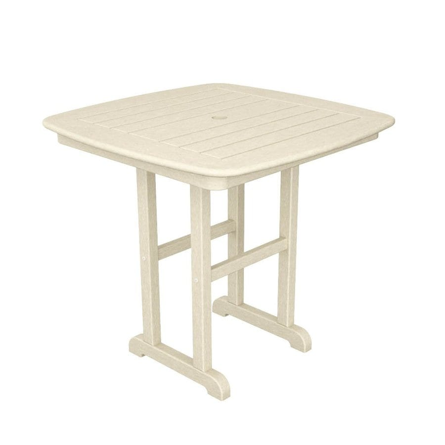 POLYWOOD Nautical 31-in W x 31-in L Square Plastic Dining Table