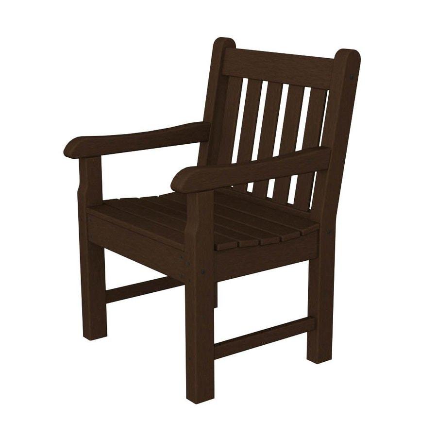 POLYWOOD Rockford Mahogany Plastic Patio Conversation Chair