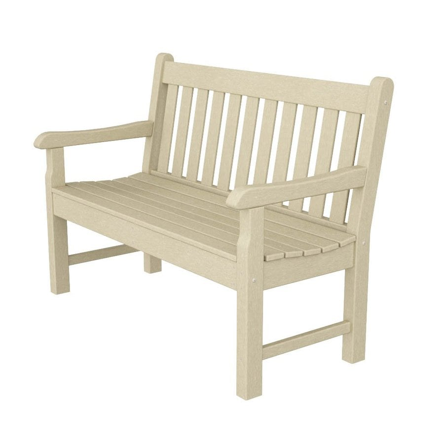 POLYWOOD Rockford 24-in W x 48-in L Sand Plastic Patio Bench