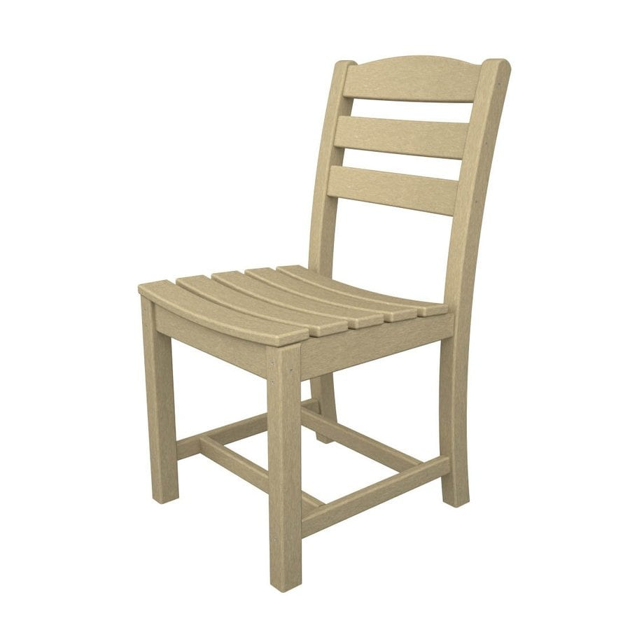 POLYWOOD La Casa Cafe 2-Count Sand Plastic Patio Dining Chairs