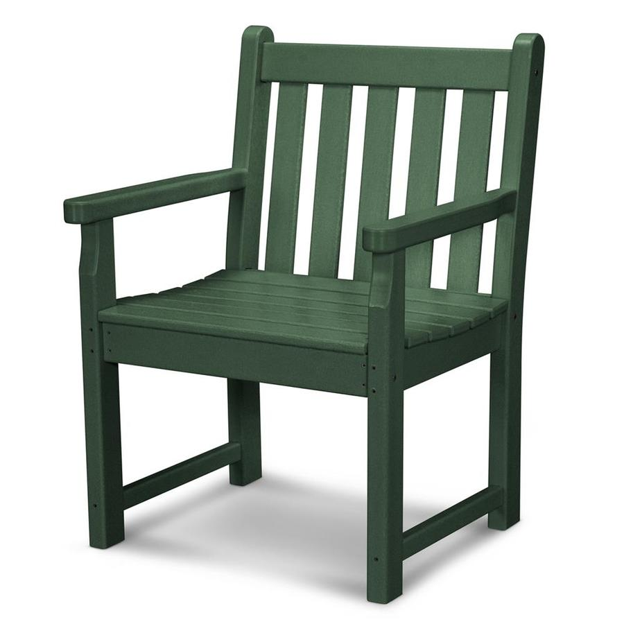 Shop polywood traditional garden green plastic patio conversation chair at Plastic outdoor furniture
