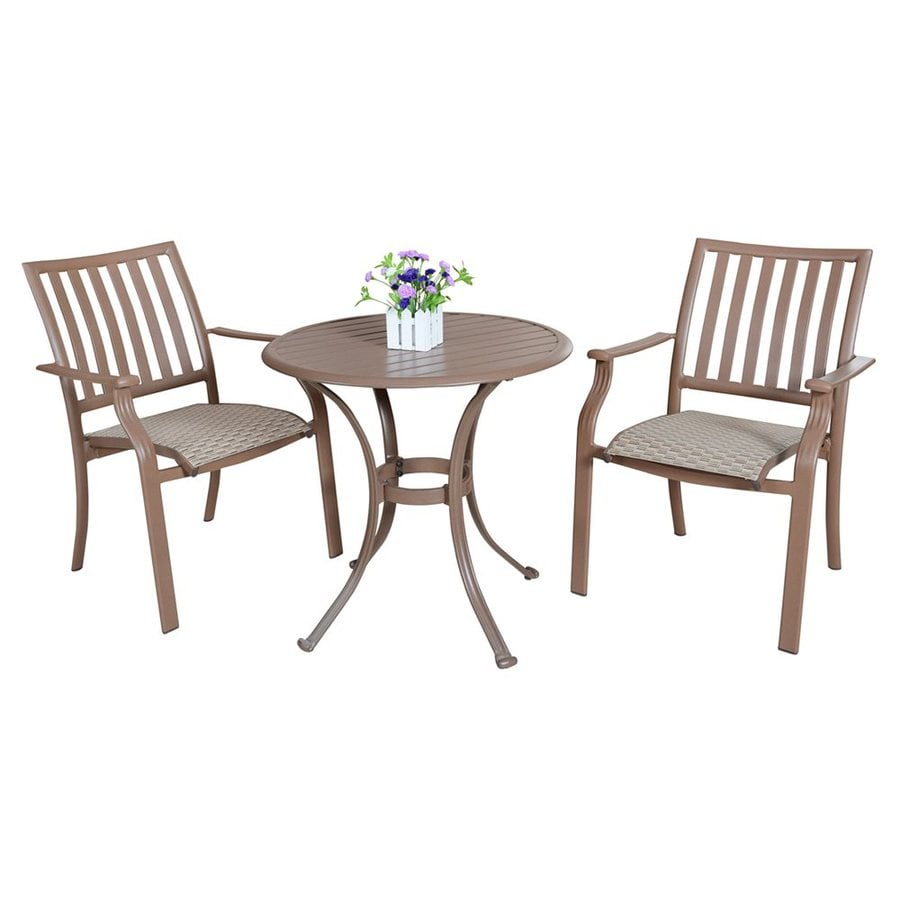 panama jack 3 piece aluminum bistro patio dining set at