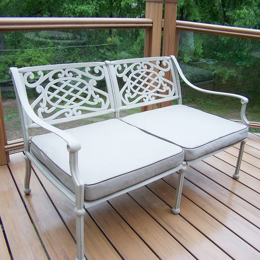 Oakland Living 29-in L Aluminum Patio Bench