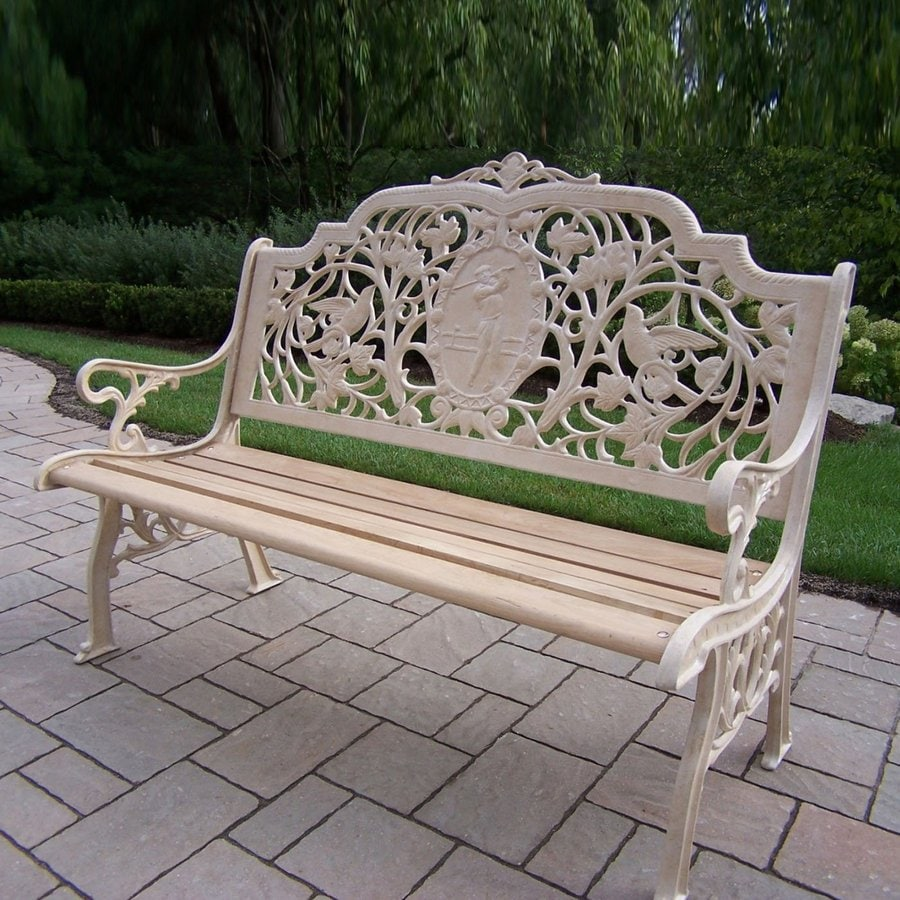 Oakland Living 40-in L Aluminum Patio Bench
