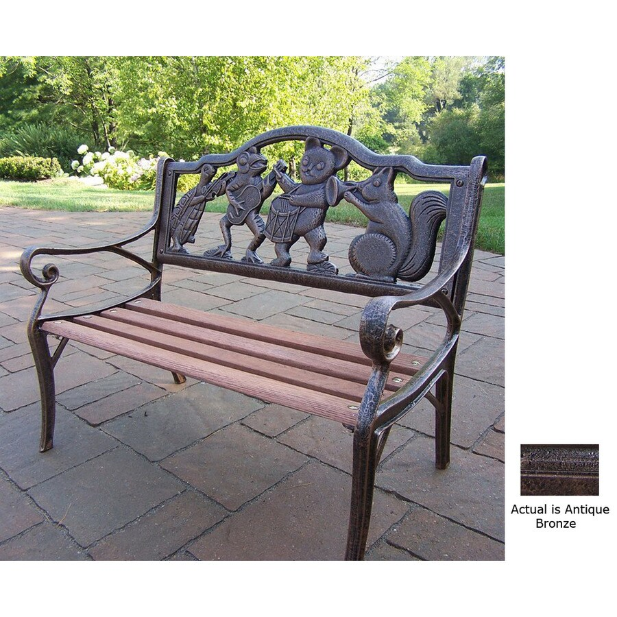 Oakland Living 22-1/2-in L Steel/Iron Patio Bench