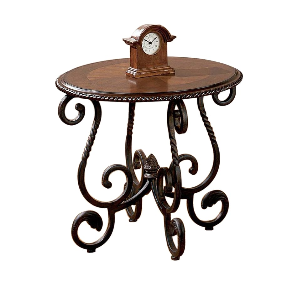 Steve Silver Company Crowley Burnished Dark Cherry Round End Table