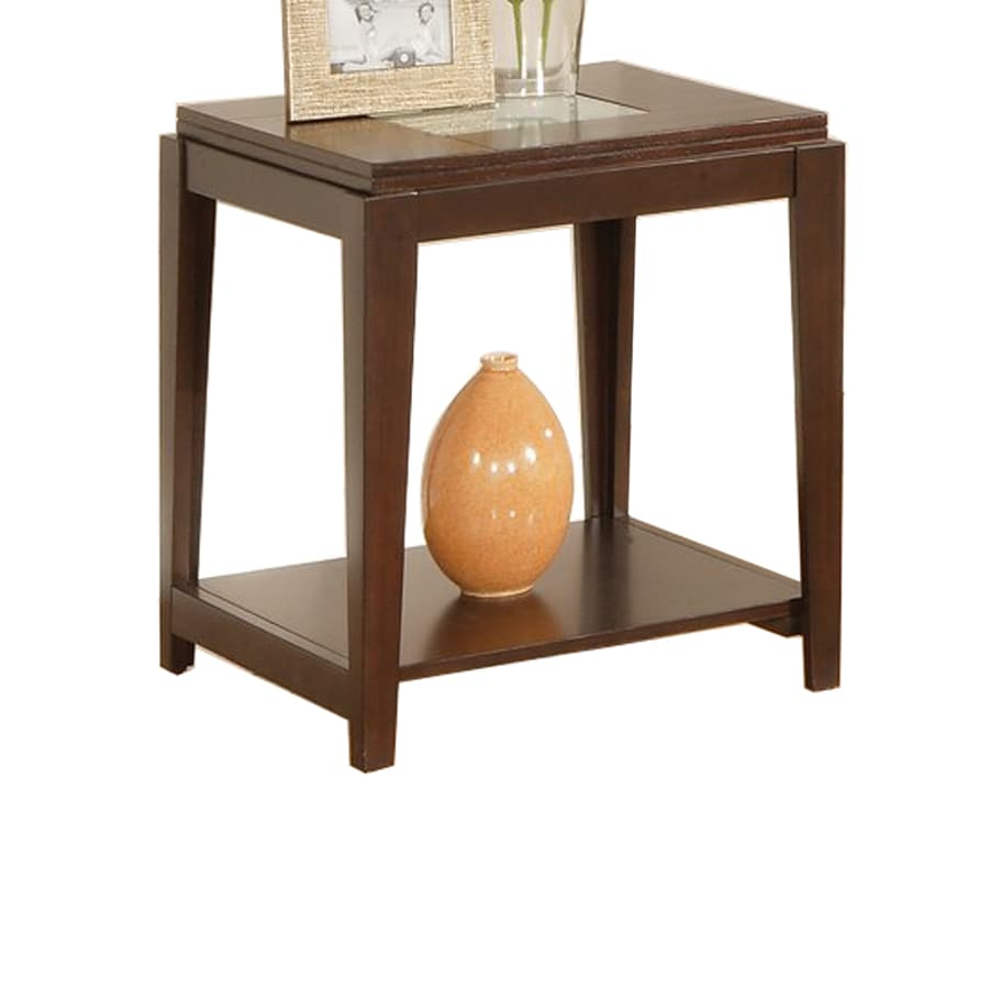 Steve Silver Company Ice Fruitwood Square End Table