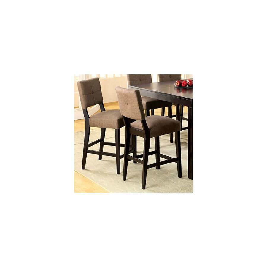 Furniture of America Bay Side Espresso 26.5-in Bar Stool