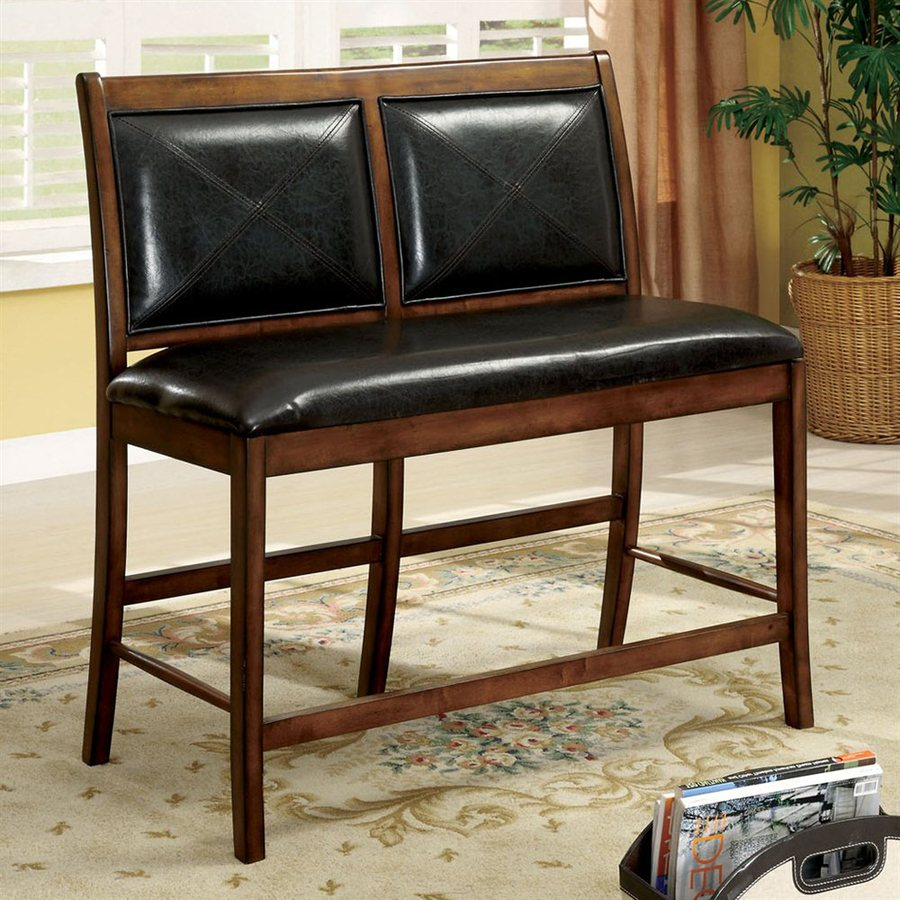 Furniture of America Living Stone Tobacco Oak 26-in Counter Stool