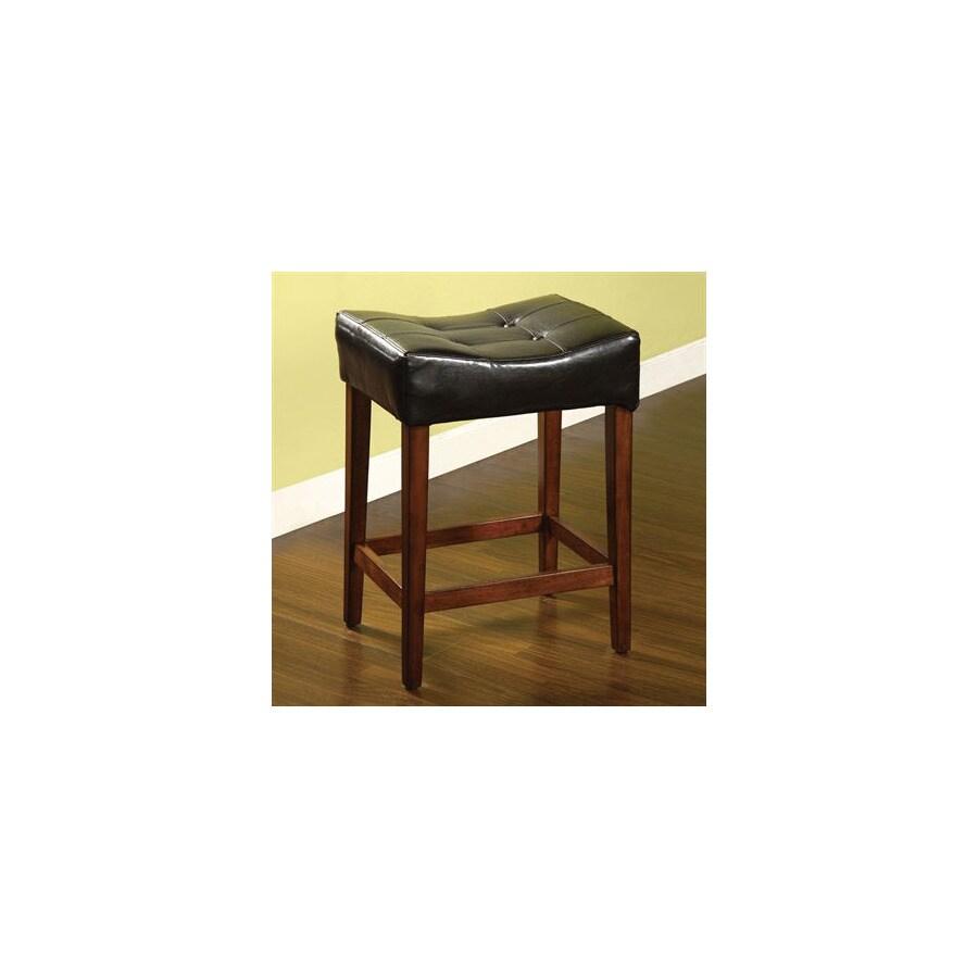 Furniture of America Rockford Dark Oak 25-in Counter Stool