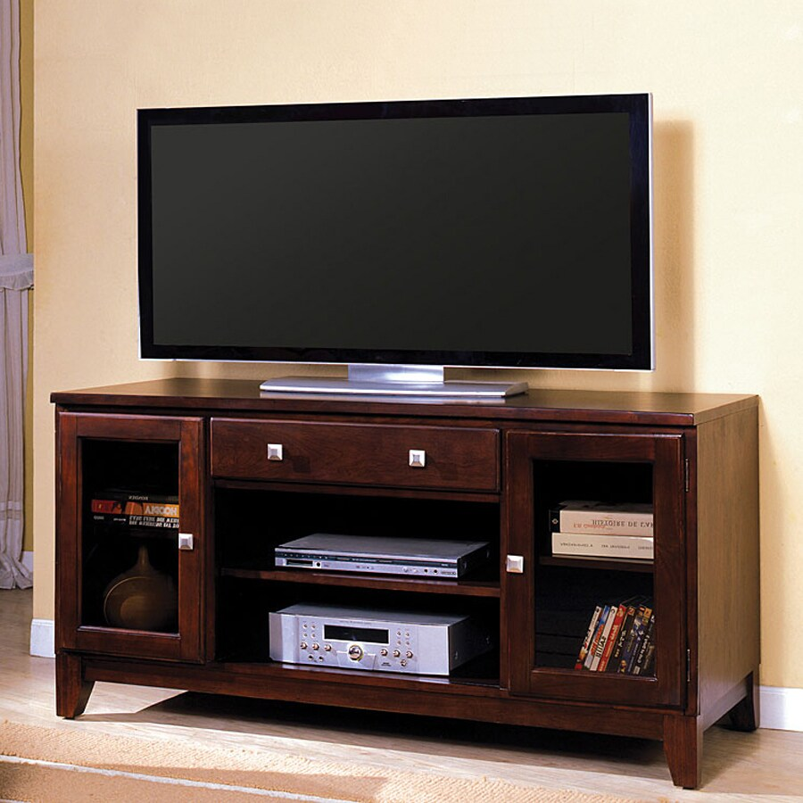 Furniture of America Aracelly Dark Cherry Rectangular Television Cabinet