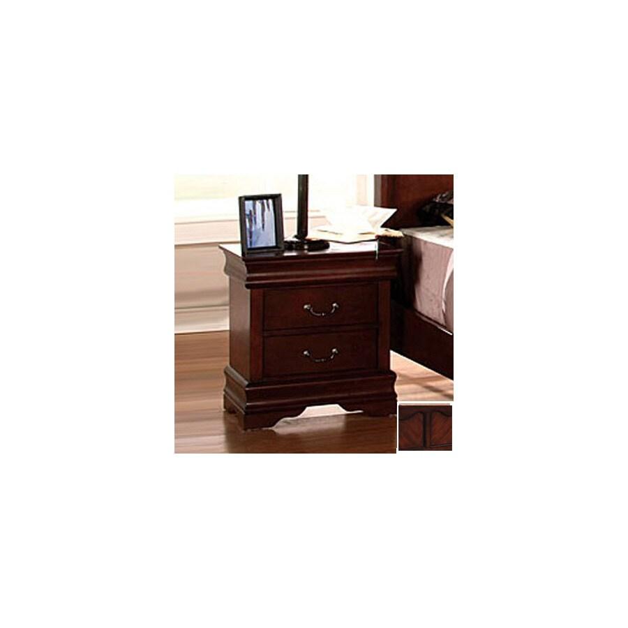 Furniture of America Louis Philippe Dark Cherry Birch Nightstand