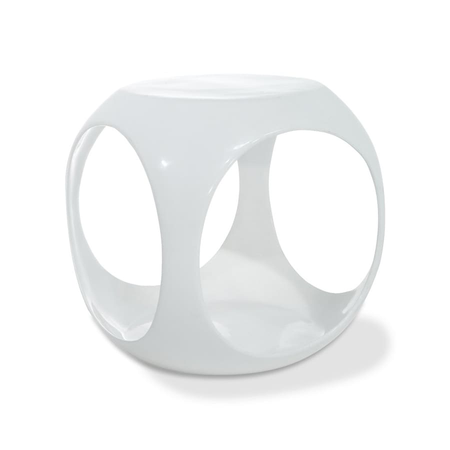 Office Star Avenue Six White Round End Table