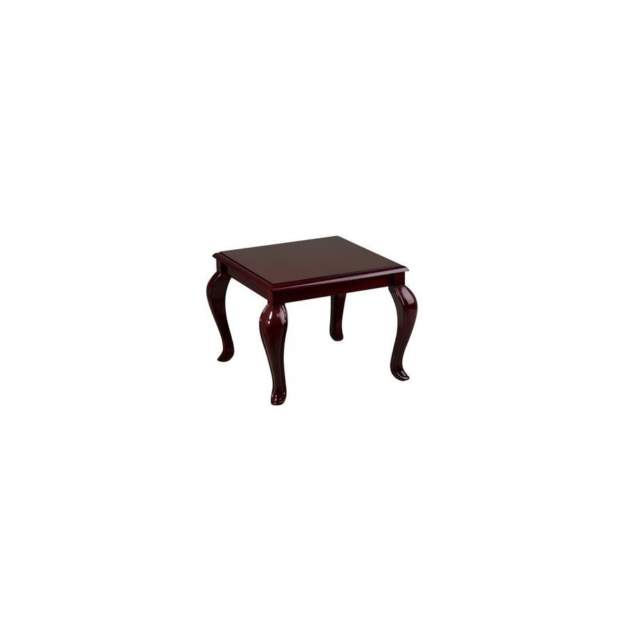 Office Star Worksmart Mahogany Square End Table