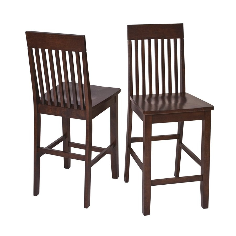 Office Star Set of 2 Osp Designs Amaretto 24-in Counter Stool