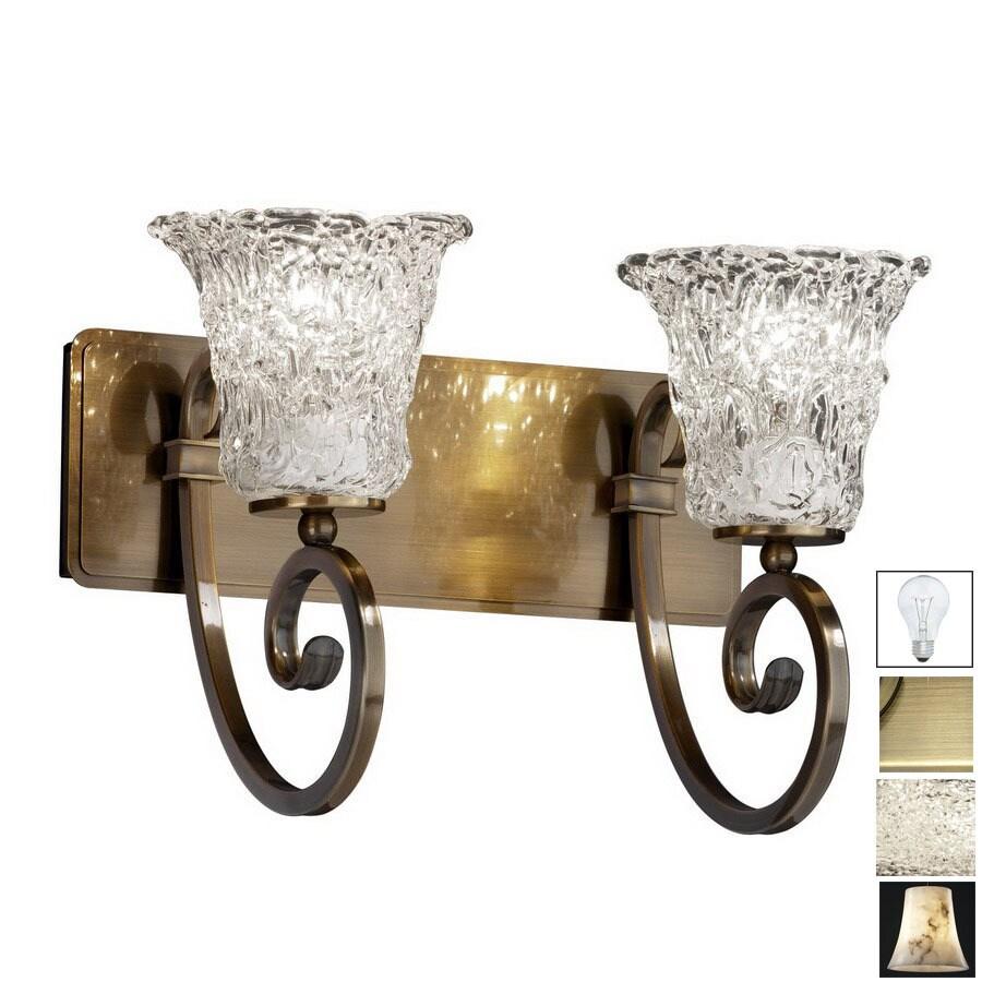 Shop Cascadia Lighting 2 Light Veneto Luce Victoria Antique Brass Bathroom Vanity Light At