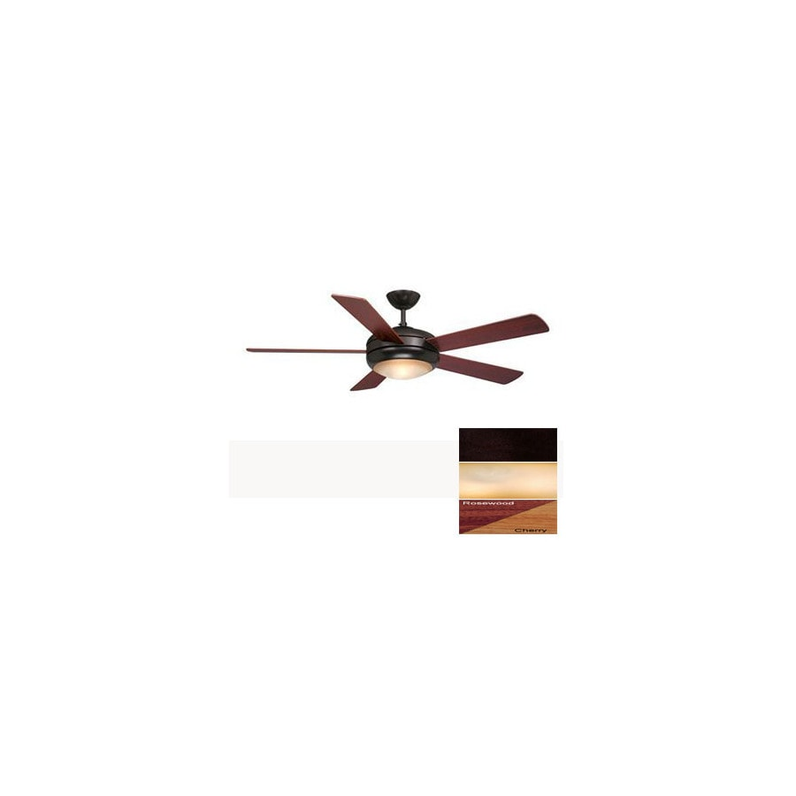 Cascadia Lighting 52-in Rialta Oil-Rubbed Bronze Ceiling Fan with Light Kit and Remote