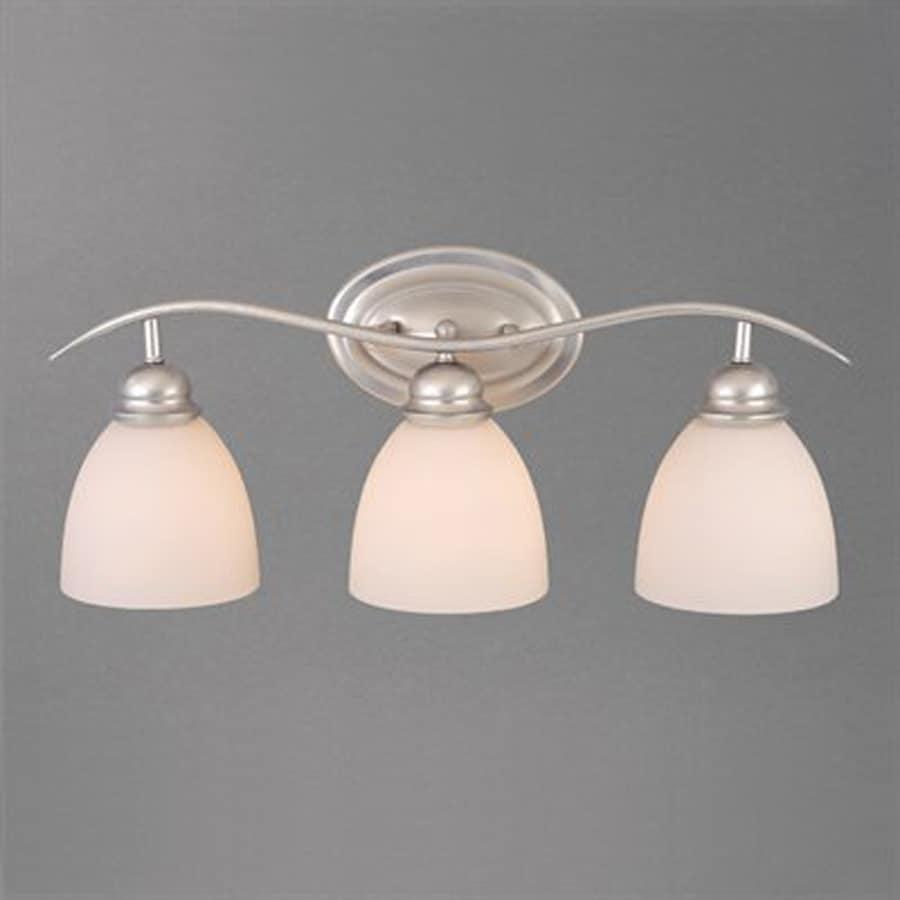 Cascadia Lighting 3-Light Avalon Brushed Nickel Bathroom Vanity Light