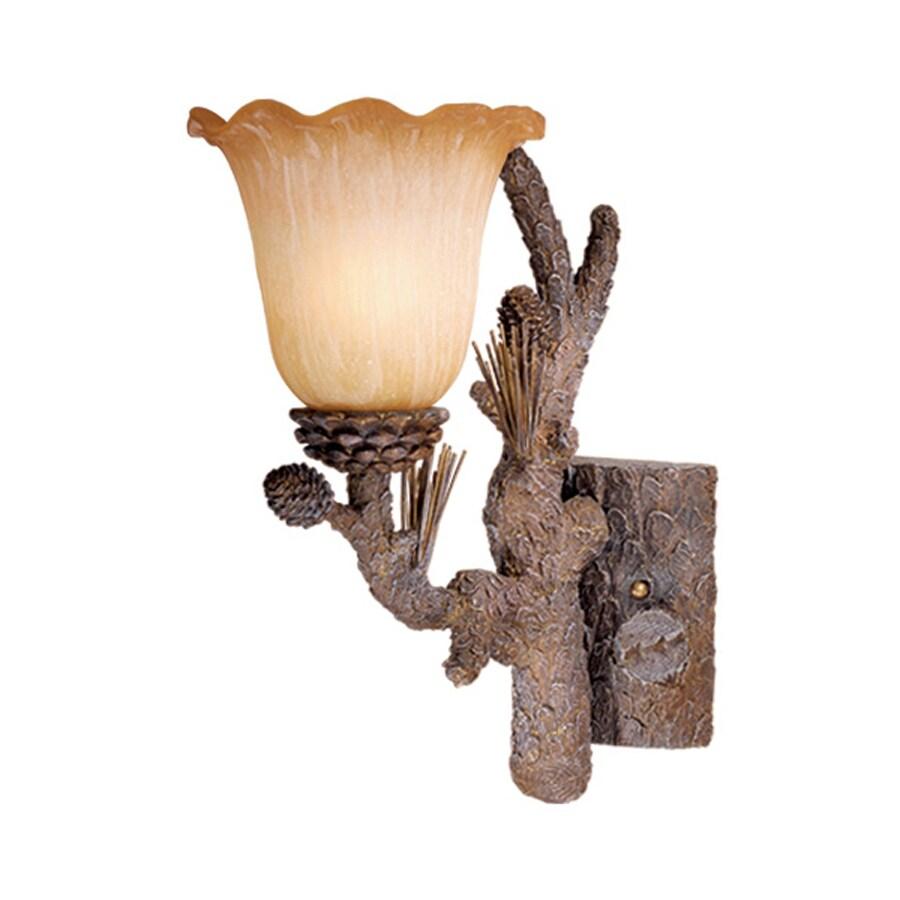 Cascadia Lighting Aspen 7-in W 1-Light Pine Tree Arm Hardwired Wall Sconce