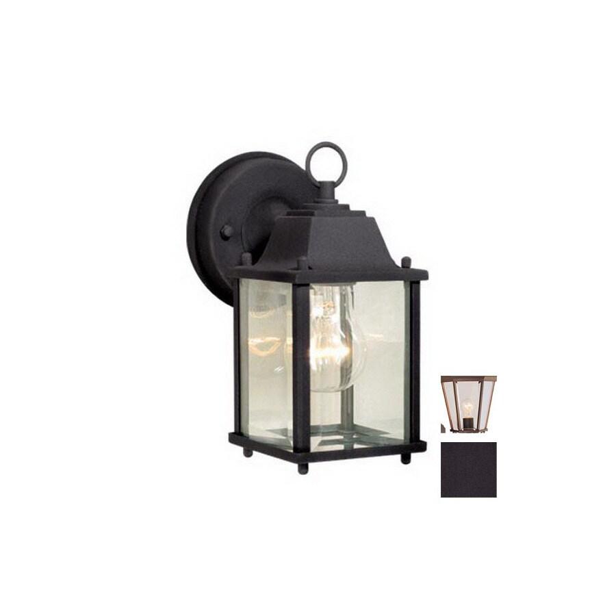Cascadia Lighting Millard 8-1/2-in Textured Black Outdoor Wall Light