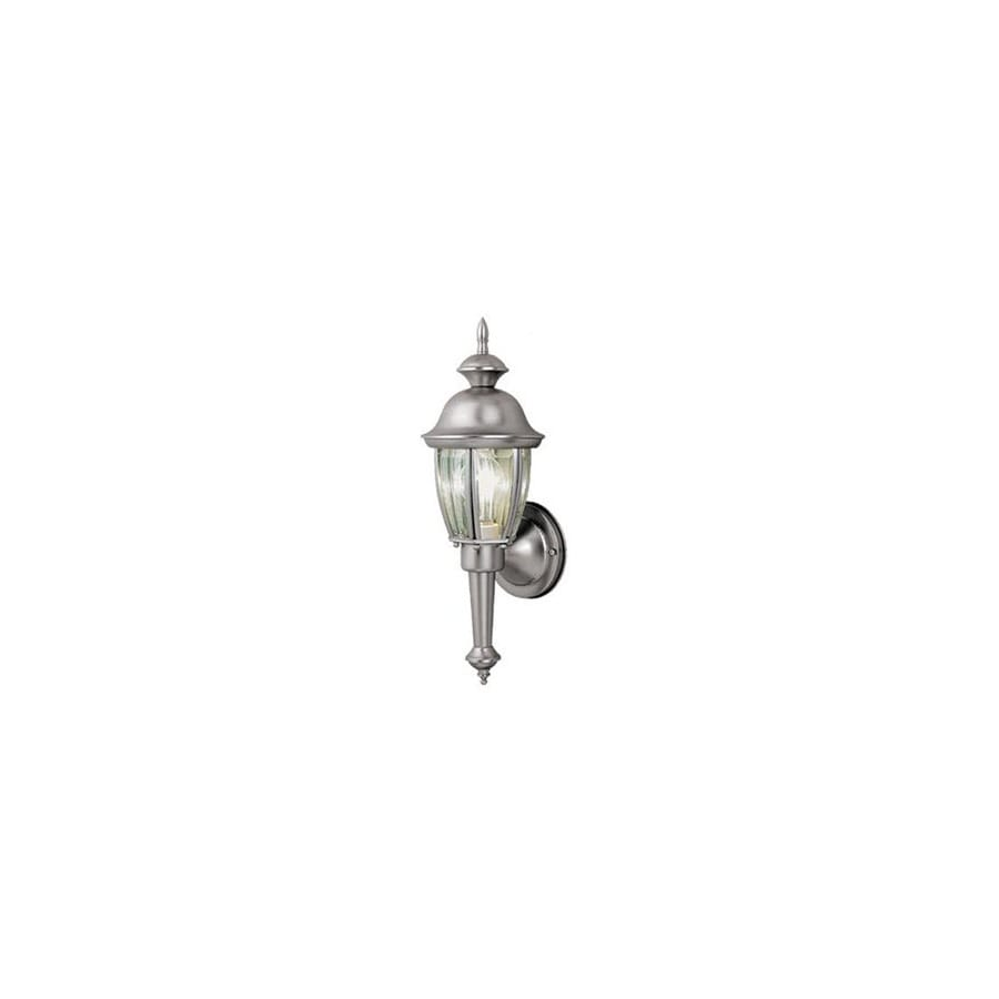 Cascadia Lighting Capitol 15-1/2-in Brushed Nickel Outdoor Wall Light