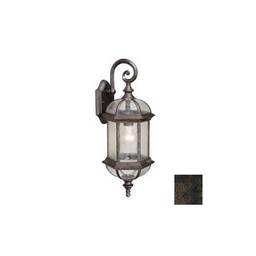 Cascadia Lighting Chateau 21-1/2-in Gold Stone Outdoor Wall Light