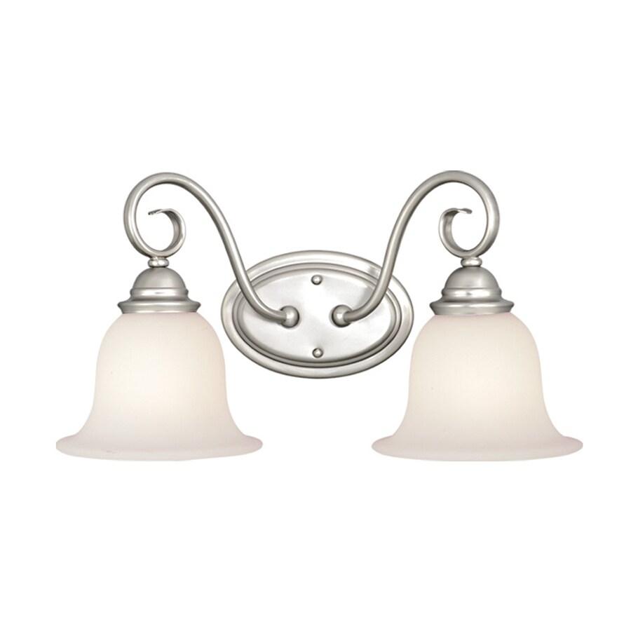 Cascadia Lighting 2-Light Picasso Brushed Nickel Bathroom Vanity Light