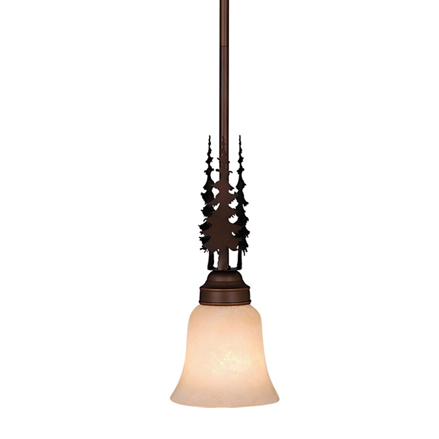 Cascadia Lighting Yosemite 5-in Burnished Bronze Rustic Mini Bell Pendant