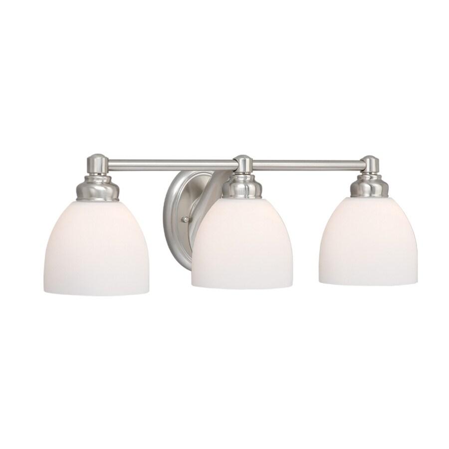 Cascadia Lighting 3-Light Stockholm Brushed Nickel Bathroom Vanity Light