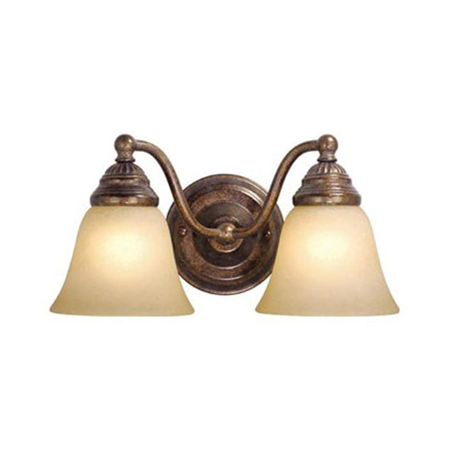 Shop Cascadia Lighting 2-Light Standford Royal Bronze Bathroom Vanity Light at Lowes.com