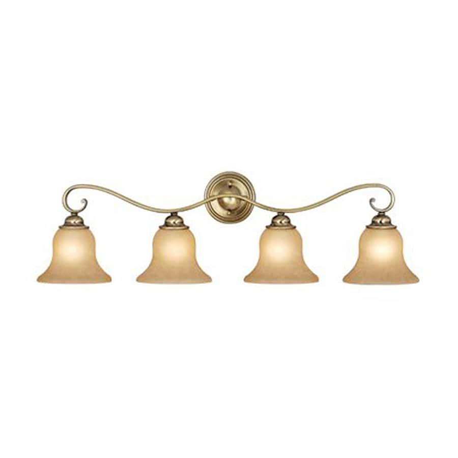 Vanity Lights Brass : Shop Cascadia Lighting 4-Light Monrovia Antique Brass Bathroom Vanity Light at Lowes.com