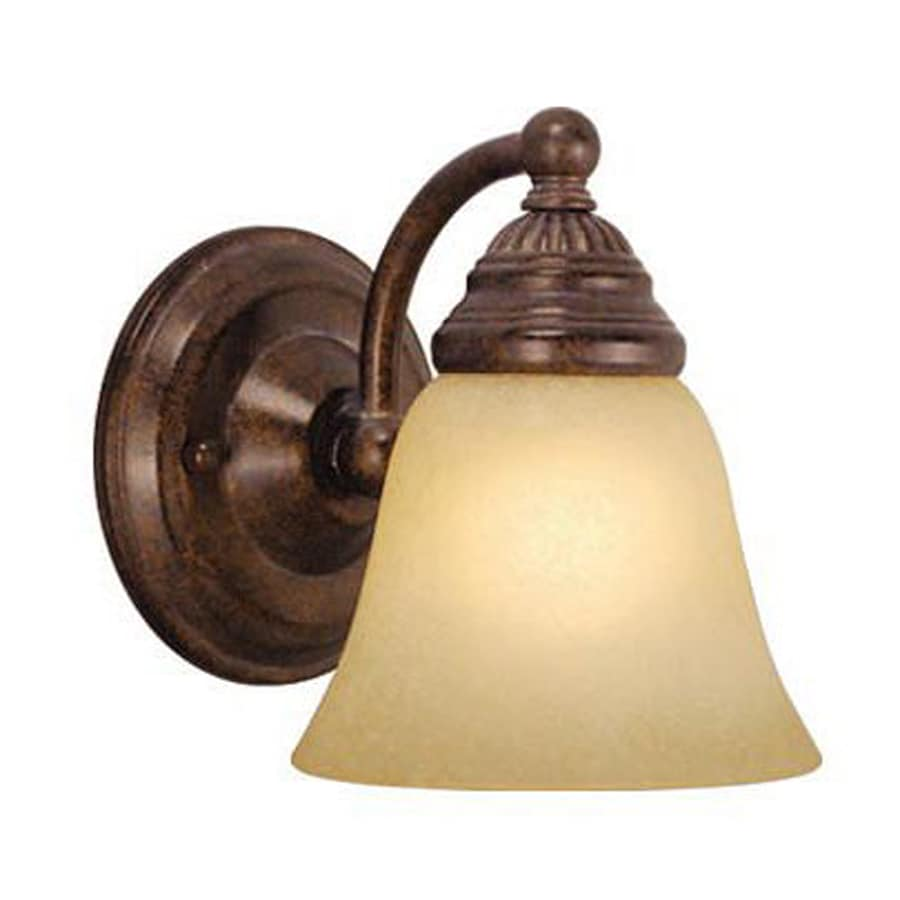 Cascadia Lighting Standford 5.25-in W 1-Light Royal Bronze Arm Hardwired Wall Sconce