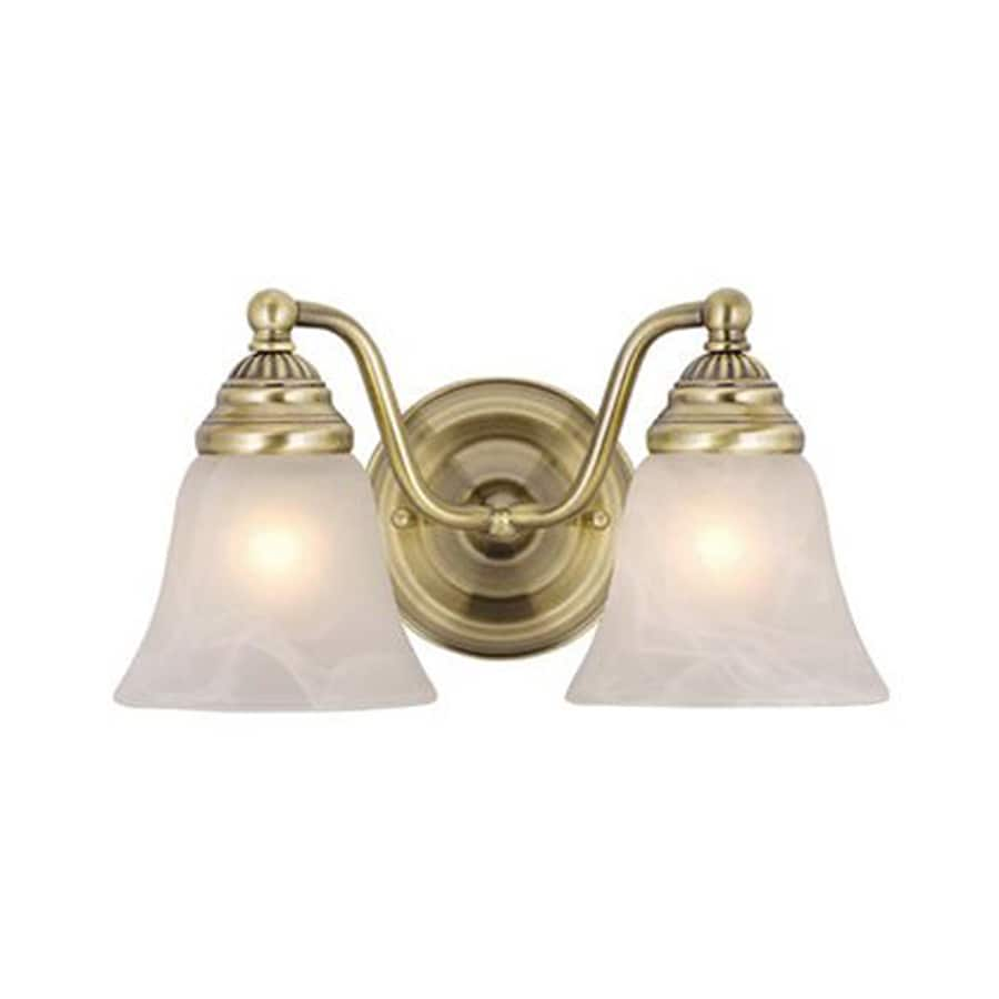 Antique Bathroom Vanity Lights : Shop Cascadia Lighting 2-Light Standford Antique Brass Bathroom Vanity Light at Lowes.com