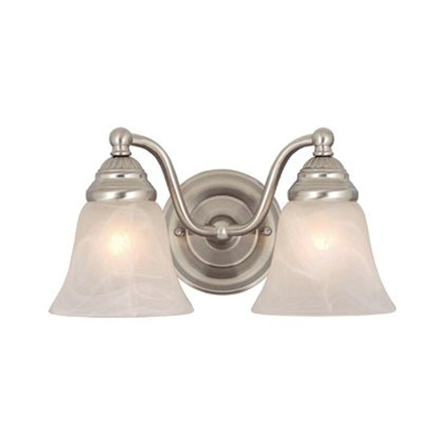 Shop Cascadia Lighting 2 Light Standford Brushed Nickel Bathroom Vanity Light At