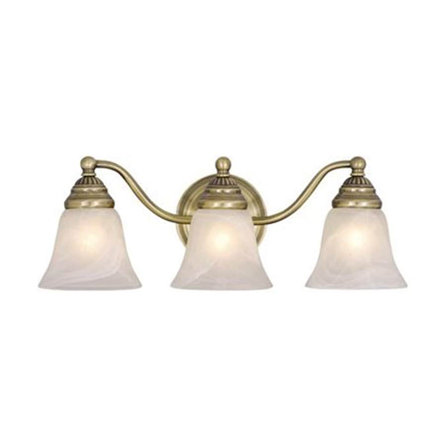Vanity Lights Antique Brass : Shop Cascadia Lighting 3-Light Standford Antique Brass Bathroom Vanity Light at Lowes.com
