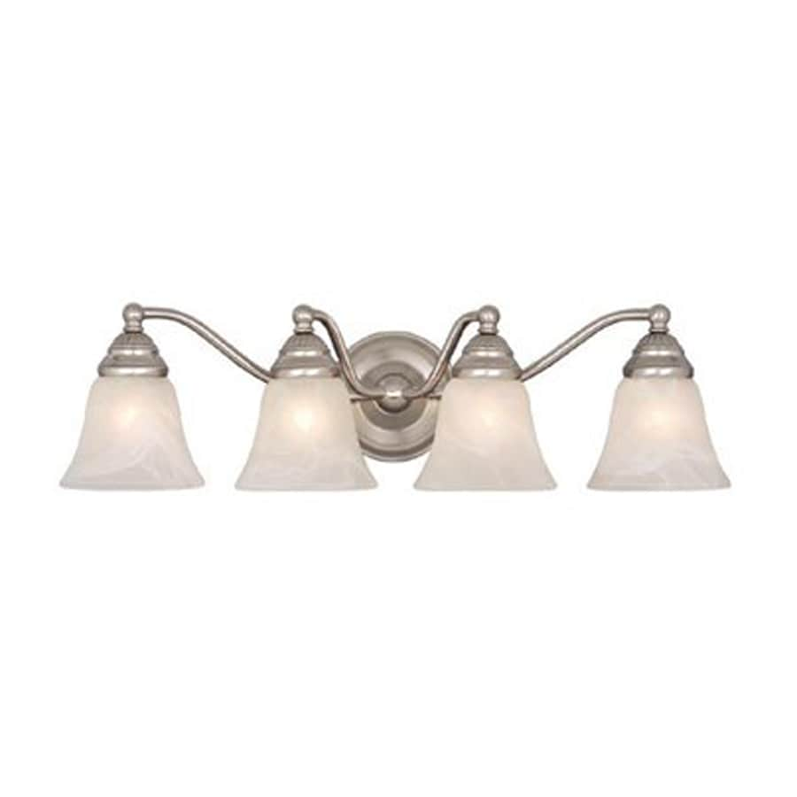 4 Light Brushed Nickel Vanity Lights : Shop Cascadia Lighting 4-Light Standford Brushed Nickel Bathroom Vanity Light at Lowes.com